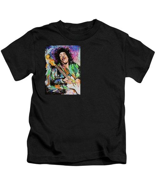 Jimi Hendrix Kids T-Shirt by Richard Day