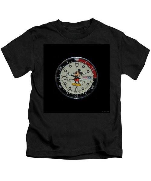 Mickey Mouse Watch Face Kids T-Shirt