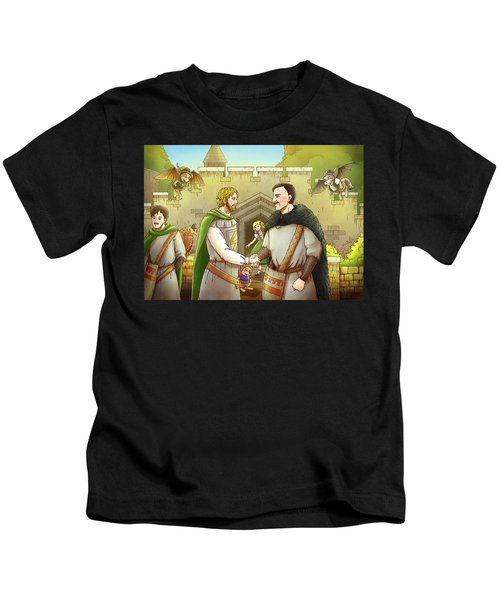 Robin Hood And The Captain Of The Guard Kids T-Shirt