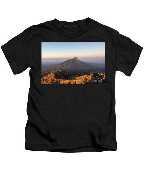 Sunrise Over Java In Indonesia Kids T-Shirt