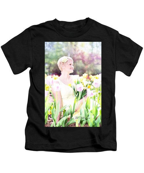 Vintage Val Spring Tulips Kids T-Shirt