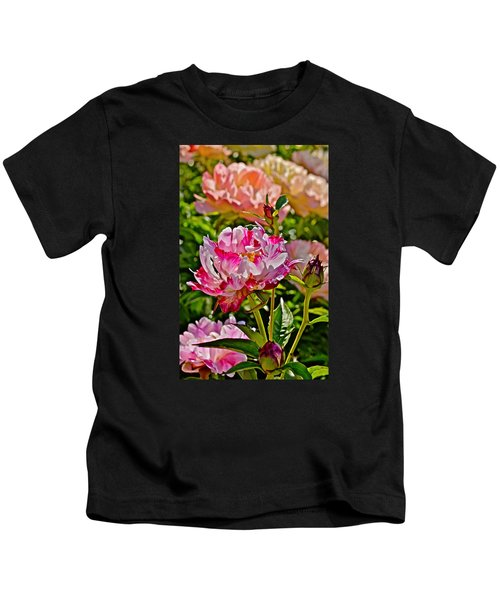 2015 Summer's Eve At The Garden Candy Stripe Peony Kids T-Shirt