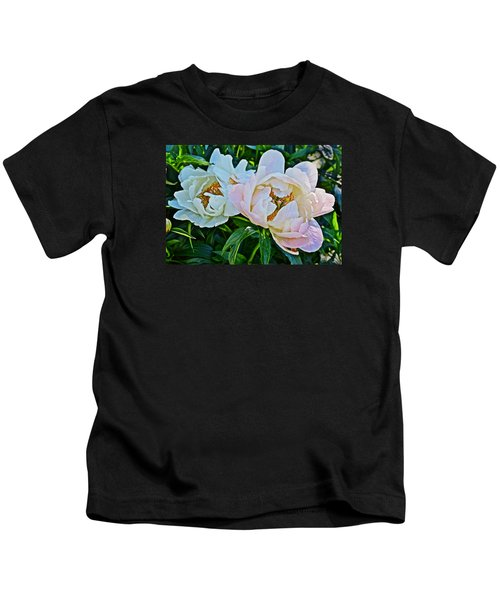 2015 Summer's Eve At The Garden White Peony Duo Kids T-Shirt