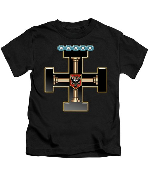 27th Degree Mason - Knight Of The Sun Or Prince Adept Masonic Jewel  Kids T-Shirt