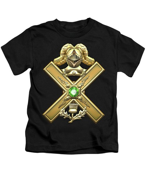 29th Degree Mason - Scottish Knight Of Saint Andrew Masonic Jewel  Kids T-Shirt by Serge Averbukh