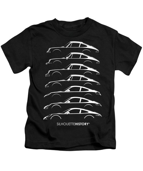 Boxer Sports Car Silhouettehistory Kids T-Shirt