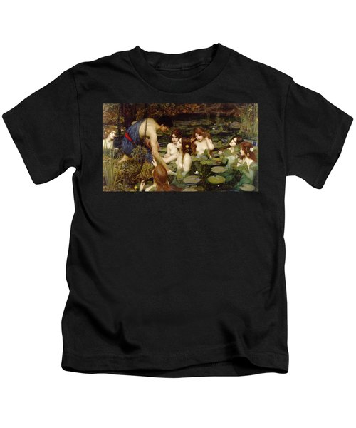 Hylas And The Nymphs Kids T-Shirt