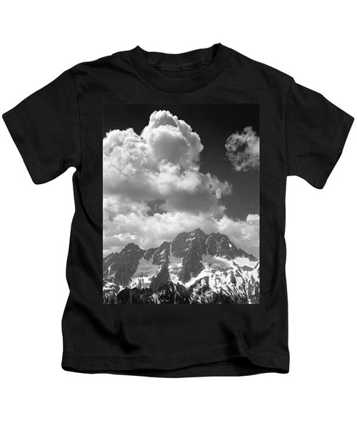 304638 Clouds Over Mt. Stuart Bw Kids T-Shirt
