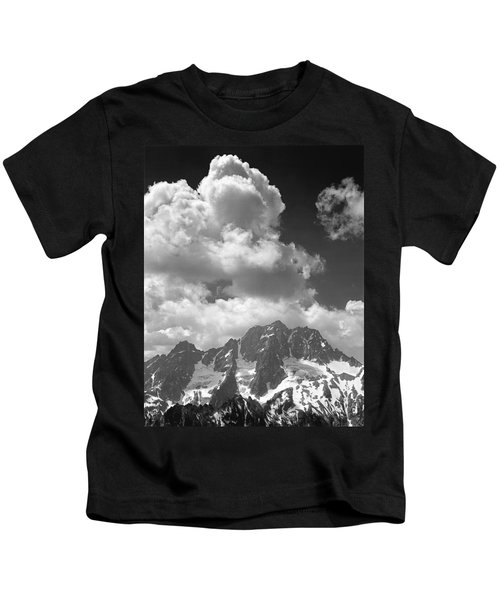 304638 Clouds Over Mt. Stuart Bw Kids T-Shirt