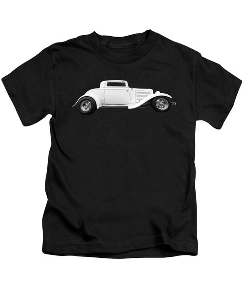 32 Ford Deuce Coupe In Black And White Kids T-Shirt
