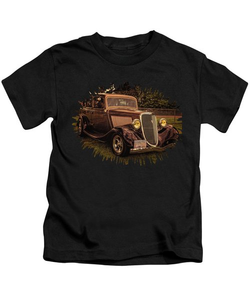 Cool 34 Ford Four Door Sedan Kids T-Shirt