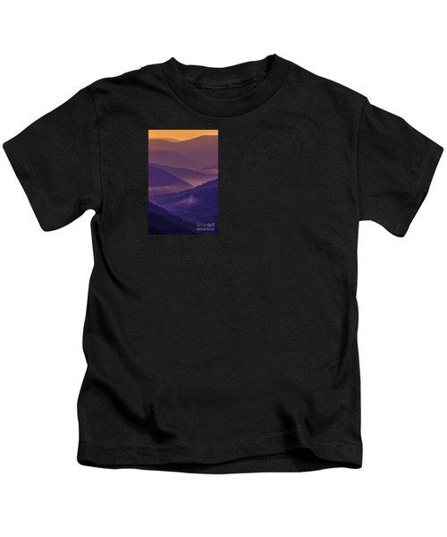 Allegheny Mountain Sunrise Two Kids T-Shirt