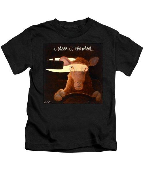 A Sheep At The Wheel... Kids T-Shirt