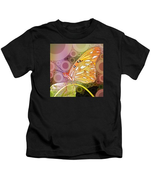 Bubble Art Butterfly Kids T-Shirt
