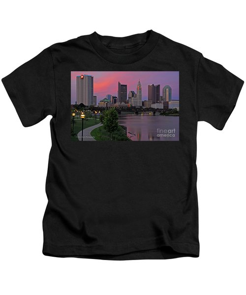 D2l37 Columbus Ohio Skyline Photo Kids T-Shirt