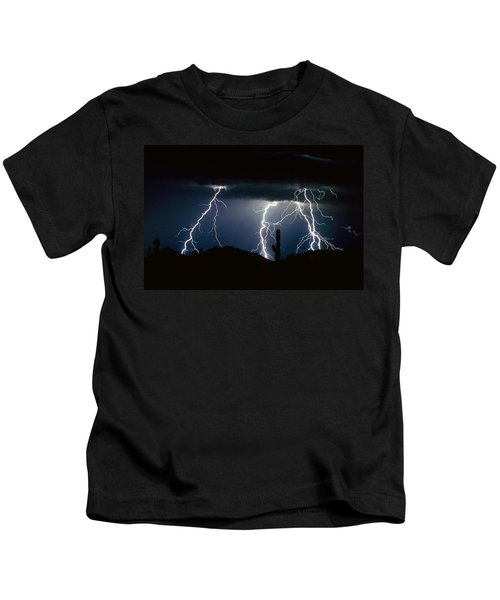4 Lightning Bolts Fine Art Photography Print Kids T-Shirt