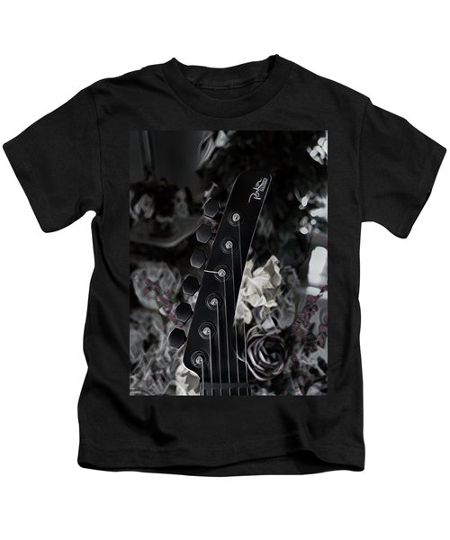Parker Fly Guitar Headstock Kids T-Shirt
