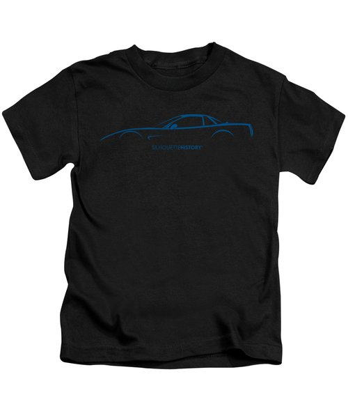 American Sports Car Silhouettehistory Kids T-Shirt
