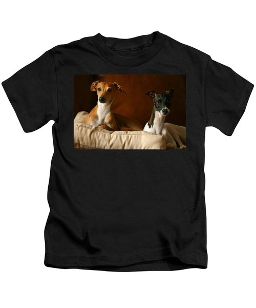 Italian Greyhounds Kids T-Shirt