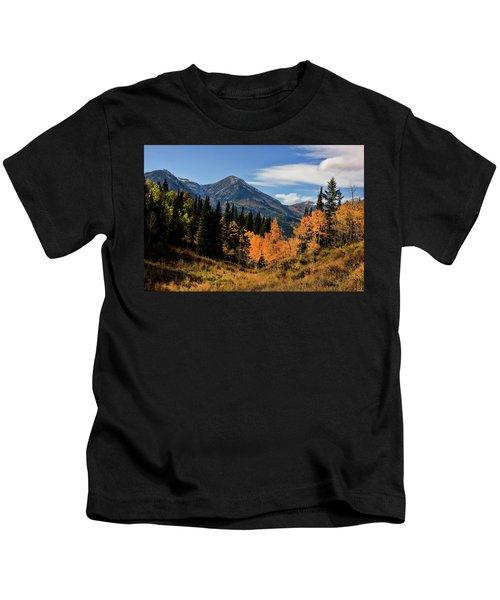 Rocky Mountain Fall Kids T-Shirt