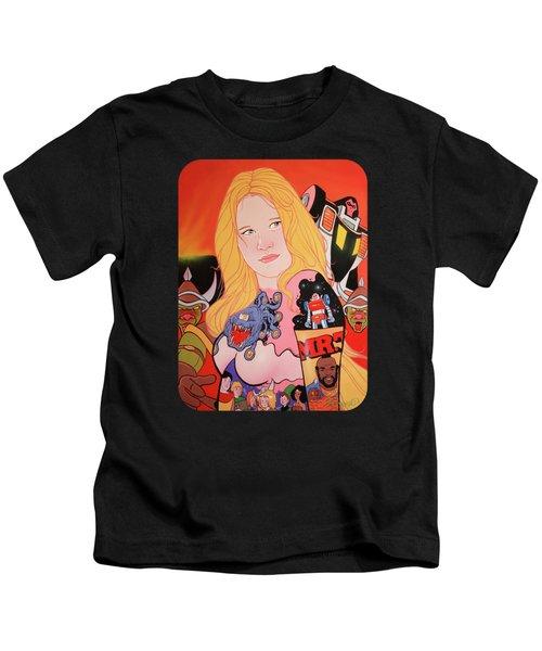 80s Girl 5  Kids T-Shirt