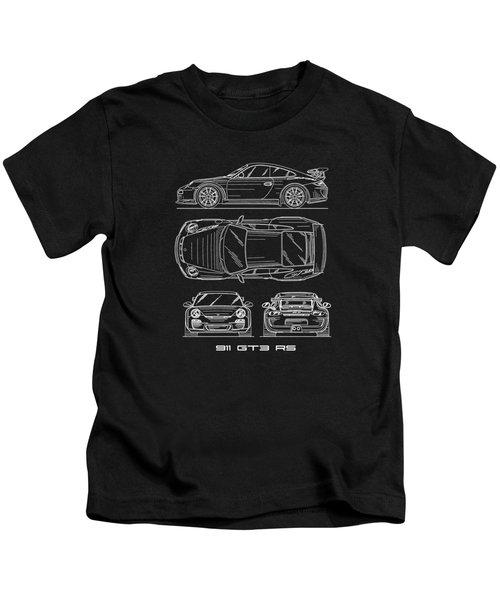 911 Gt3 Rs Blueprint Kids T-Shirt