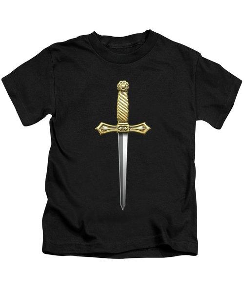 9th Degree Mason - Elu Of The Nine Masonic Jewel  Kids T-Shirt by Serge Averbukh