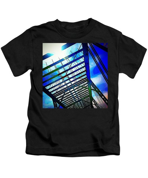 A Bridge In Denver. #denver #colorado Kids T-Shirt