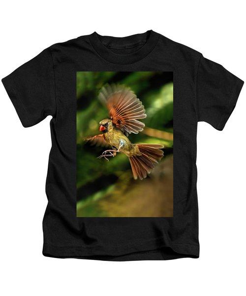 A Cardinal Approaches Kids T-Shirt