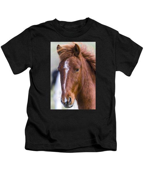 A Chestnut Horse Portrait Kids T-Shirt