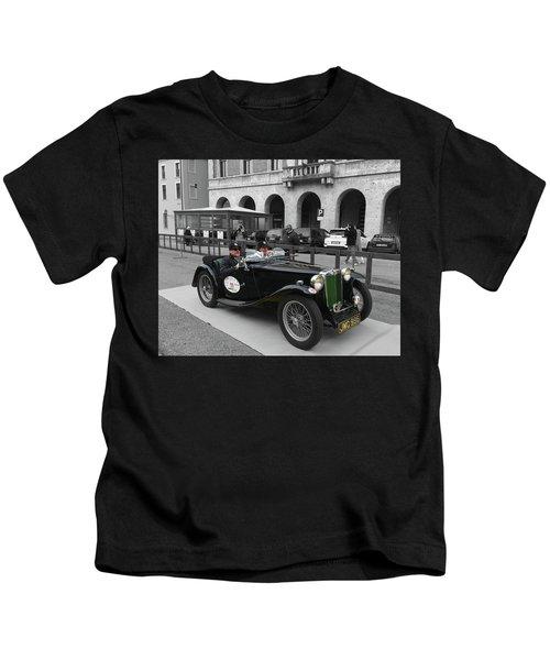 A Classic Vintage British Mg Car Kids T-Shirt
