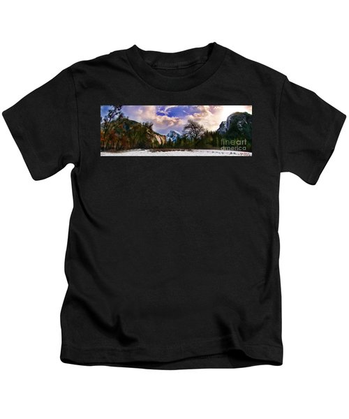 A Cold Yosemite Half Dome Morning Kids T-Shirt