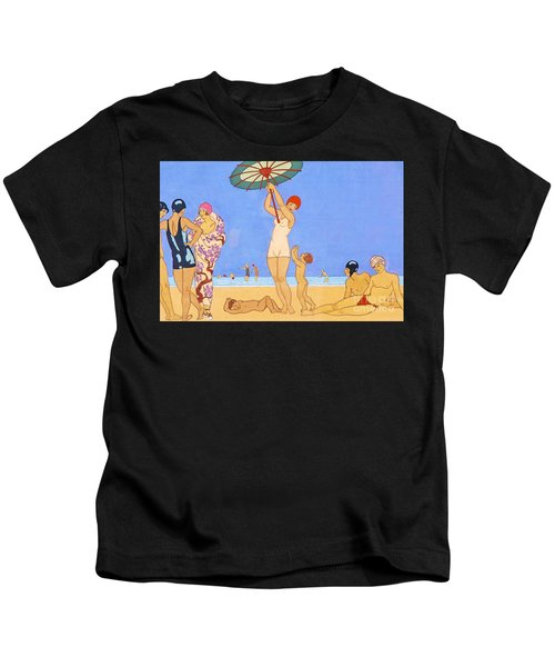 A Day At The Beach, 1923 Kids T-Shirt