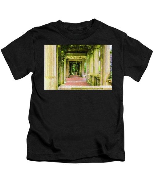 A Garden House Entryway. Kids T-Shirt