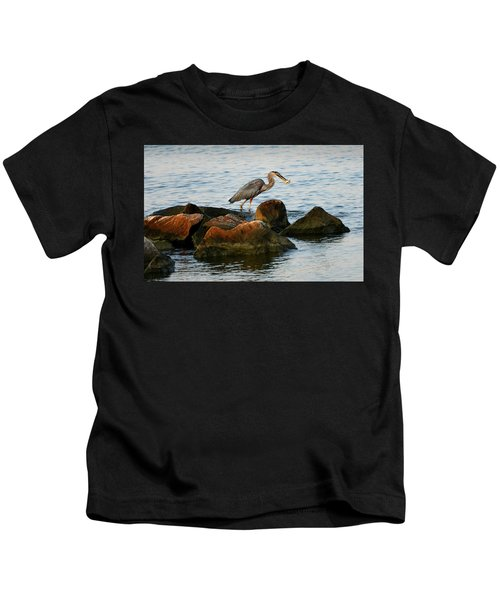 A Great Blue Heron Day Kids T-Shirt