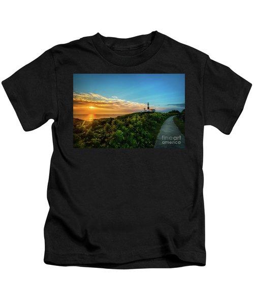 A Montauk Lighthouse Sunrise Kids T-Shirt