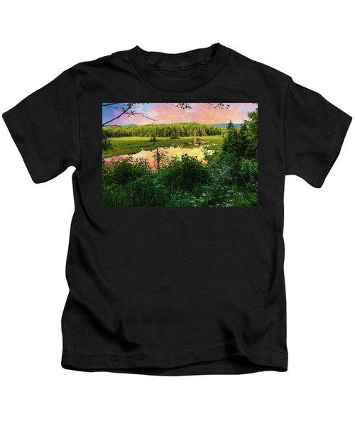 A New England Bog. Kids T-Shirt