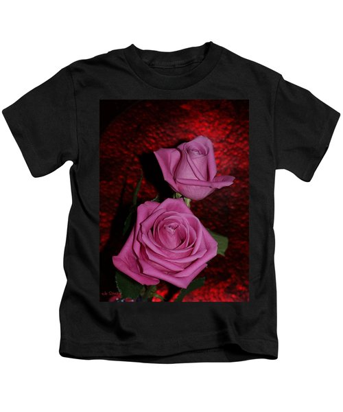 A Pair Of Pink Roses Kids T-Shirt