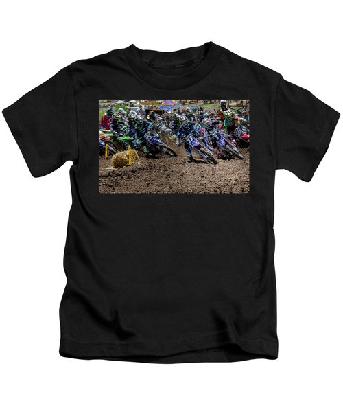 A Race For The Hole Shot Kids T-Shirt