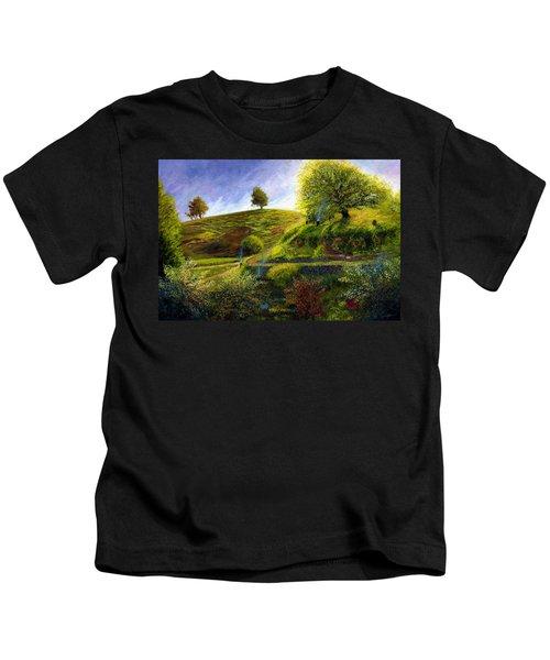 A Spring Morning At Bag End Kids T-Shirt