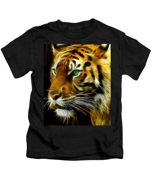 A Tiger's Stare Kids T-Shirt