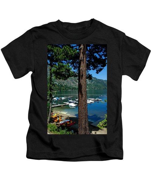 A Trees View Of Fallen Leaf Lake Kids T-Shirt