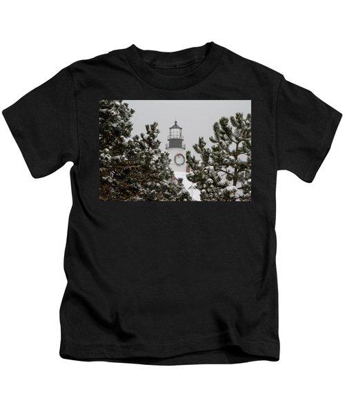 A View Of The Portland Head Light Kids T-Shirt