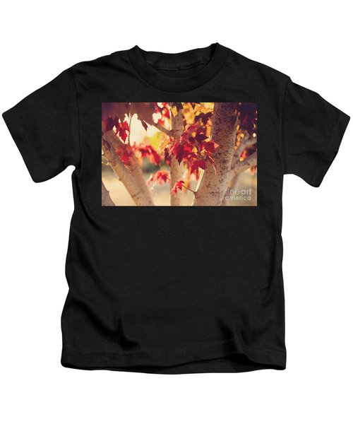 A Warm Red Autumn Kids T-Shirt