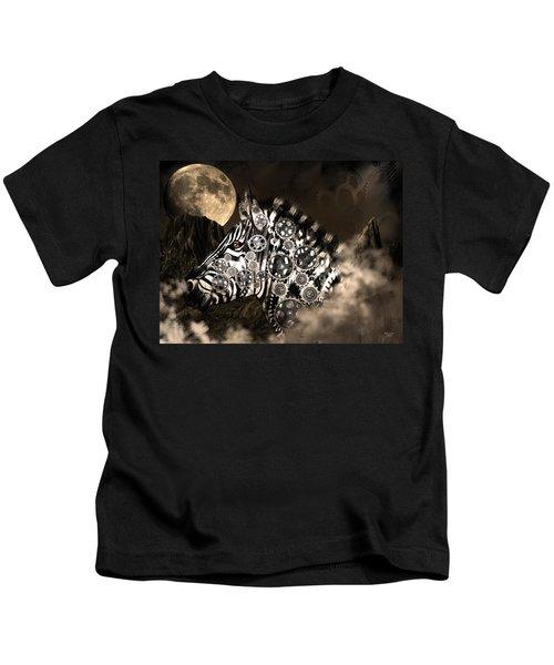 A Wild Steampunk Zebra Kids T-Shirt