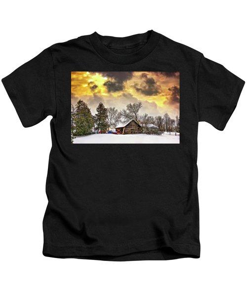 A Winter Sky Kids T-Shirt