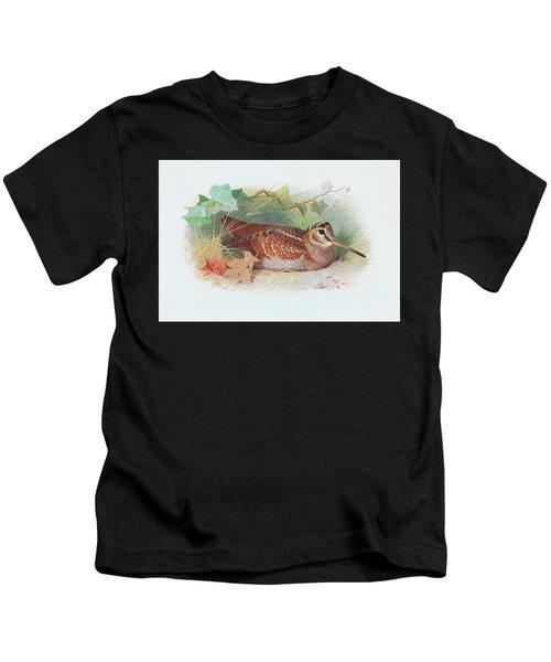A Woodcock Resting Kids T-Shirt