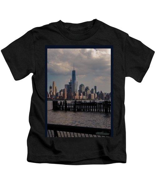 Abandoned Hoboken Pier Kids T-Shirt