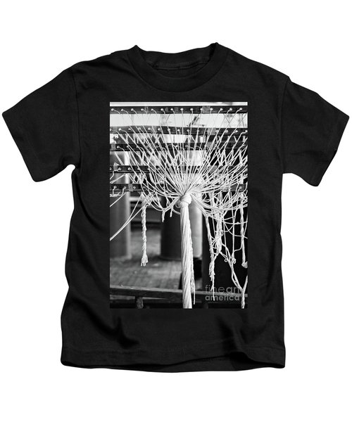 Abandoned Textile Mill, Lewiston, Maine  -48692-bw Kids T-Shirt