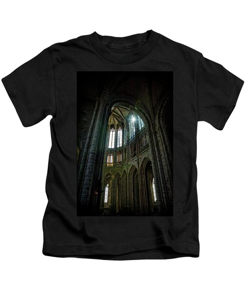 Abbey With Heavenly Light Kids T-Shirt